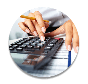 Female accountant in Brisbane using calculator to prepare BAS Business Activity Statement